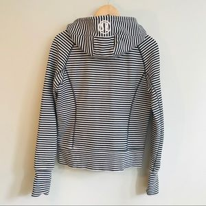 lululemon athletica Jackets & Coats - Lululemon Striped Scuba Hoodie In Black/White